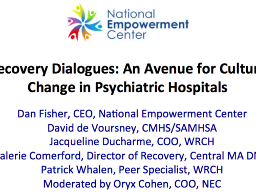 Recovery Dialogues: An Avenue for Culture Change in Psychiatric Hospitals